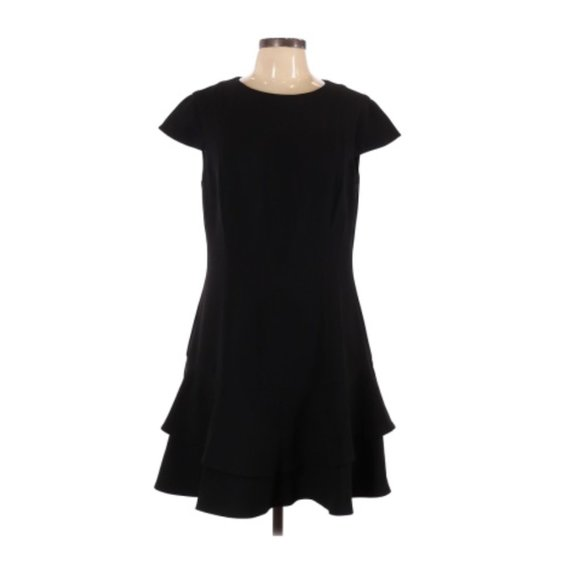 Eliza J 4 Petite Flounce Cap Sleeve A Line Dress